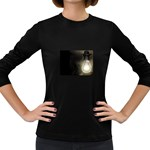 Goth Haunted House Lightbulb Women s Long Sleeve Dark T-Shirt