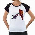 Ruby Throated Hummingbird Women s Cap Sleeve T
