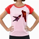 Ruby Throated Hummingbird Women s Cap Sleeve T-Shirt