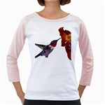 Ruby Throated Hummingbird Girly Raglan