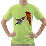 Ruby Throated Hummingbird Green T-Shirt