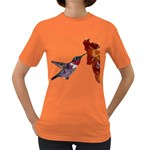 Ruby Throated Hummingbird Women s Dark T-Shirt