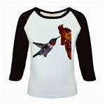 Ruby Throated Hummingbird Kids Baseball Jersey