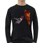 Ruby Throated Hummingbird Long Sleeve Dark T-Shirt