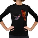 Ruby Throated Hummingbird Women s Long Sleeve Dark T-Shirt
