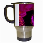 Rose and Black Explosion Fractal Travel Mug (White)