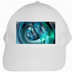 Blue and Silver Twisted Future Fantasy White Cap