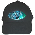 Blue and Silver Twisted Future Fantasy Black Cap