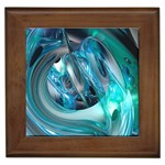 Blue and Silver Twisted Future Fantasy Framed Tile