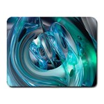 Blue and Silver Twisted Future Fantasy Small Mousepad