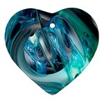 Blue and Silver Twisted Future Fantasy Ornament (Heart)