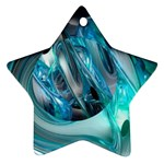 Blue and Silver Twisted Future Fantasy Ornament (Star)