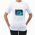 Blue and Silver Twisted Future Fantasy Women s T-Shirt