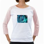 Blue and Silver Twisted Future Fantasy Girly Raglan
