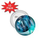 Blue and Silver Twisted Future Fantasy 1.75  Button (10 pack)