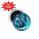 Blue and Silver Twisted Future Fantasy 1.75  Magnet (10 pack)