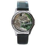 Leopard 2 Round Metal Watch