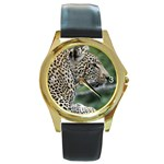 Leopard 2 Round Gold Metal Watch