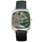 Leopard 2 Square Metal Watch