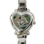 Leopard 2 Heart Italian Charm Watch