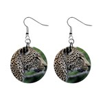 Leopard 2 1  Button Earrings