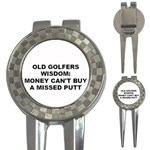 OLD GOLFERS WISDOM MONEY VS OPPORTUNITY 3-in-1 Golf Divot