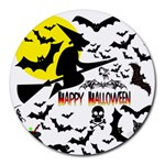 Happy Halloween Collage 8  Mouse Pad (Round)