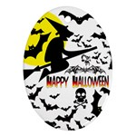 Happy Halloween Collage Oval Ornament
