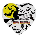 Happy Halloween Collage Heart Ornament