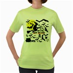 Happy Halloween Collage Women s T-shirt (Green)