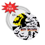 Happy Halloween Collage 2.25  Button (10 pack)