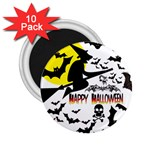 Happy Halloween Collage 2.25  Button Magnet (10 pack)