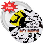Happy Halloween Collage 3  Button (10 pack)