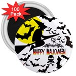 Happy Halloween Collage 3  Button Magnet (100 pack)