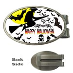 Happy Halloween Collage Money Clip (Oval)