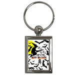 Happy Halloween Collage Key Chain (Rectangle)