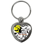 Happy Halloween Collage Key Chain (Heart)