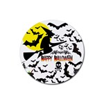 Happy Halloween Collage Drink Coasters 4 Pack (Round)