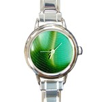 Punk Hand on Fingerprint Fantasy Round Italian Charm Watch