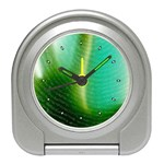 Punk Hand on Fingerprint Fantasy Travel Alarm Clock
