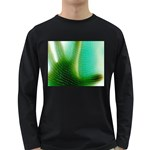 Punk Hand on Fingerprint Fantasy Long Sleeve Dark T-Shirt