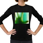Punk Hand on Fingerprint Fantasy Women s Long Sleeve Dark T-Shirt