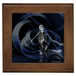 Rising Skeleton on Black Goth Punk Framed Tile