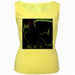 Dragon Aura Women s Tank Top (Yellow)