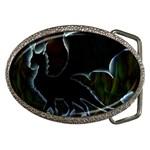 Dragon Aura Belt Buckle (Oval)