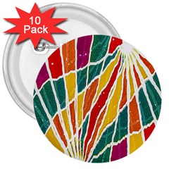 Multicolored Vibrations 3  Button (10 Pack) by dflcprints