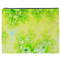 Sunny Spring Frost Fractal Cosmetic Bag (xxxl) by Artist4God