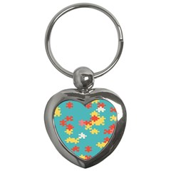 Puzzle Pieces Key Chain (heart)