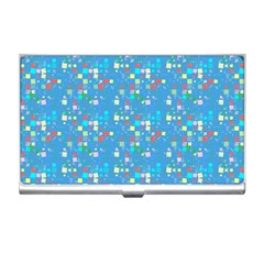 Colorful Squares Pattern Business Card Holder