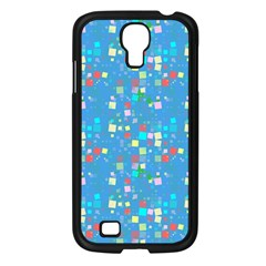 Colorful Squares Pattern Samsung Galaxy S4 I9500/ I9505 Case (black)